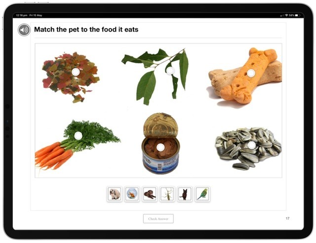 Screenshot of The Needs of Living Things - Animals Multi-Touch Book.
