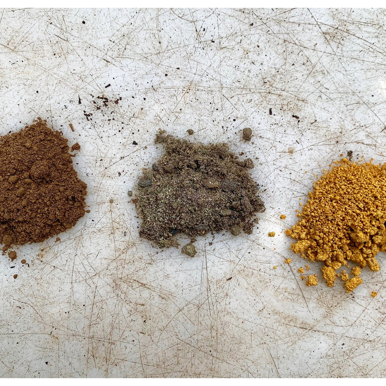 soil samples from the bush